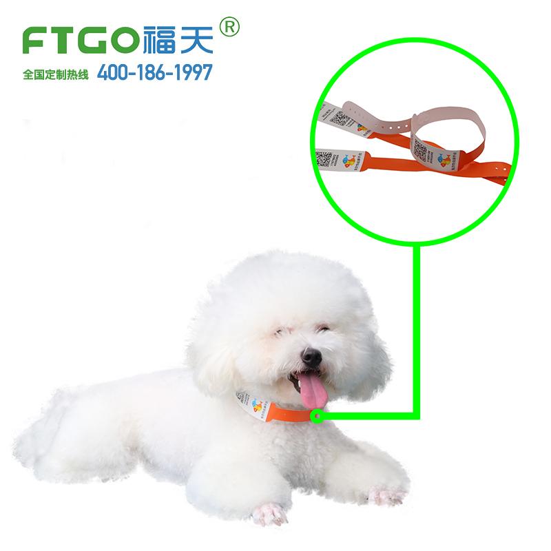 工厂定制热转印打印宠物腕带|狗猫身份识别挂环防水耐撕FTGO